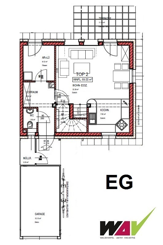 reihenhaus in g pfritz bahnanbindung. Black Bedroom Furniture Sets. Home Design Ideas